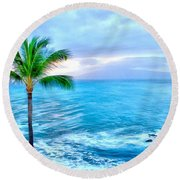 Tranquil Escape Round Beach Towel