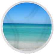Round Beach Towel featuring the photograph Tranquil Gulf Pond by David Nicholls
