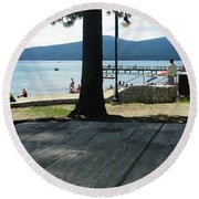 Round Beach Towel featuring the photograph Tranquil Moment by Bobbee Rickard