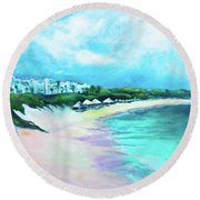 Tranquility Anguilla Round Beach Towel