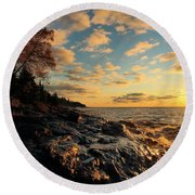 Tranquility Round Beach Towel by James Peterson