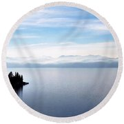 Tranquility - Lake Tahoe Round Beach Towel