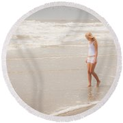 Round Beach Towel featuring the photograph Tranquility by Sennie Pierson