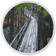 Tranquility Trail Round Beach Towel