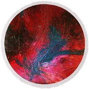 Round Beach Towel featuring the painting Transformation by Jacqueline McReynolds