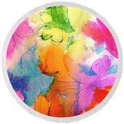Transformed Into His Image Round Beach Towel by Hazel Holland