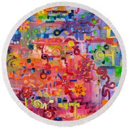 Transition To Chaos Round Beach Towel