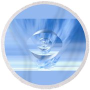 Transparency. Unique Art Collection Round Beach Towel