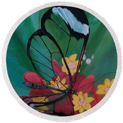Transparent Elegance Round Beach Towel