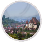 Transylvania Round Beach Towel by Mircea Costina Photography