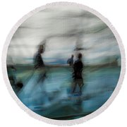 Round Beach Towel featuring the photograph Travel Blues by Alex Lapidus