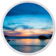 Traveling The Infinite Round Beach Towel