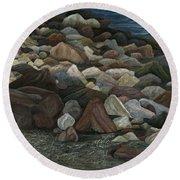 Treasure Stones Round Beach Towel