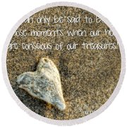 Treasured Heart Round Beach Towel