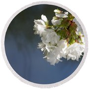 Round Beach Towel featuring the photograph Tree Blossoms by Marilyn Wilson