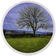 Tree - Hadrian's Wall Round Beach Towel by Mary Carol Story