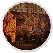 Tree House Round Beach Towel by Robert McCubbin