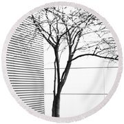 Tree Lines Round Beach Towel