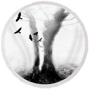 Tree Round Beach Towel