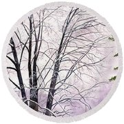 Tree Memories Round Beach Towel