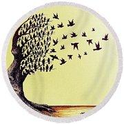 Tree Of Dreams Round Beach Towel by Paulo Zerbato