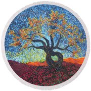 Tree Of Heart Round Beach Towel