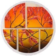Tree Of Infinite Love Round Beach Towel