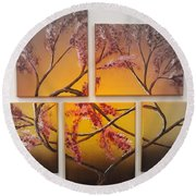 Tree Of Infinite Love Spotlighted Round Beach Towel
