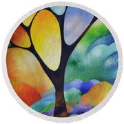 Tree Of Joy Round Beach Towel