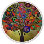 Tree Of Life 2. Version Round Beach Towel by Klara Acel