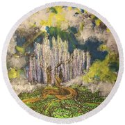 Tree Of Souls Round Beach Towel