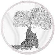 Tree Of Uncertainty Round Beach Towel