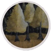 Tree Trio Round Beach Towel