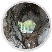 Round Beach Towel featuring the photograph Tree View by Rafael Salazar