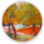 Trees #5 Round Beach Towel