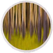 Trees Round Beach Towel by Jerry Fornarotto