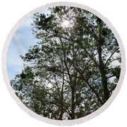Trees At The Park Round Beach Towel