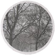Trees Of Silence Round Beach Towel