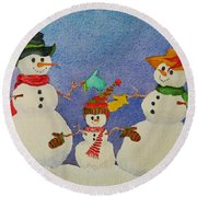 Tres Chic Round Beach Towel by Mary Ellen Mueller Legault