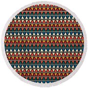 Triangle Seamless Tile Pattern Round Beach Towel