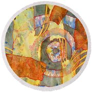 Tribal Memories Round Beach Towel