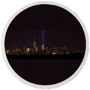 Tribute In Light 9.11 Round Beach Towel