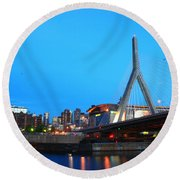 Tribute To Mr Zakim Round Beach Towel