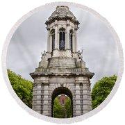Trinity College Arch - Dublin Ieland Round Beach Towel
