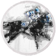 Secretariat Triple Crown 73 Round Beach Towel