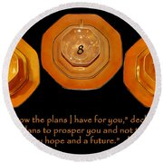 Triple Eight Octagon Saucers With Jeremiah Twenty Nine Eleven On Black Round Beach Towel