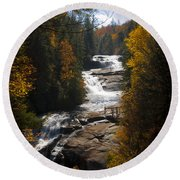 Triple Falls Round Beach Towel