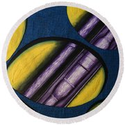 Tripping Pipe Round Beach Towel by Shawn Marlow