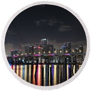 Trooper Bridge Miami Round Beach Towel