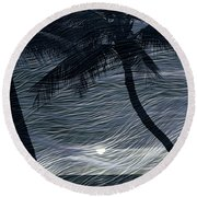 Round Beach Towel featuring the photograph Tropical Breeze by Athala Carole Bruckner